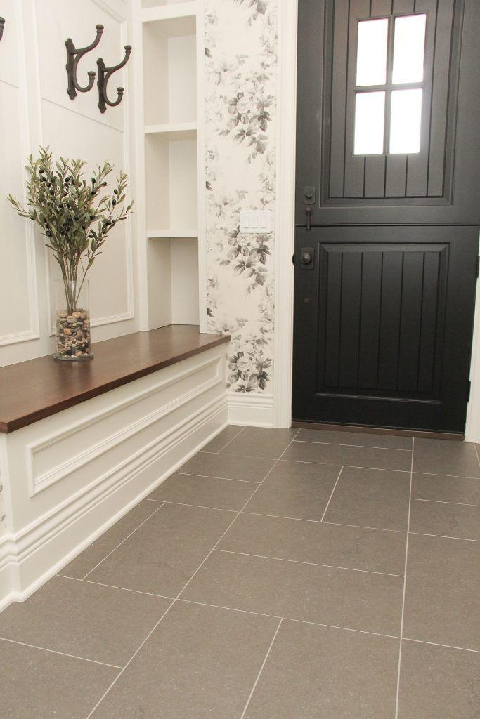 Gray Tile Entry Way Floor Floor Tile Patterns Layout Patterned