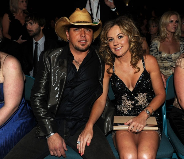 Jason and Jessica Aldean enjoy the 46th annual ACM Awards in Las Vegas on April 3, 2011.  Photo Credit: Kevin Winter/Getty Images