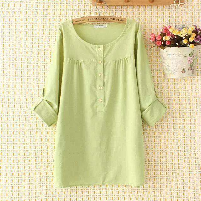 Large Collar Blouse (B0088   #caterpillar #barnard #lafond #bernardlafond #cottage glaze #groove #moda #shop #shopping #blouse #womenblouse #girlsblouse #shop )