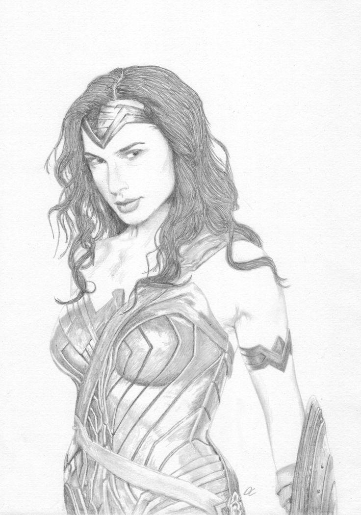 Wonder Woman Pencil Drawing The Justice League Fan Art