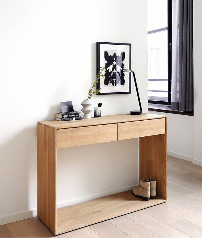 Ethnicraft Nordic Console 120 from Natural Bed Company: http://www.naturalbedcompany.co.uk/shop/bedroom-furniture/ethnicraft-nordic-console/