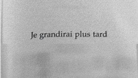 Ou peut-être jamais :-)