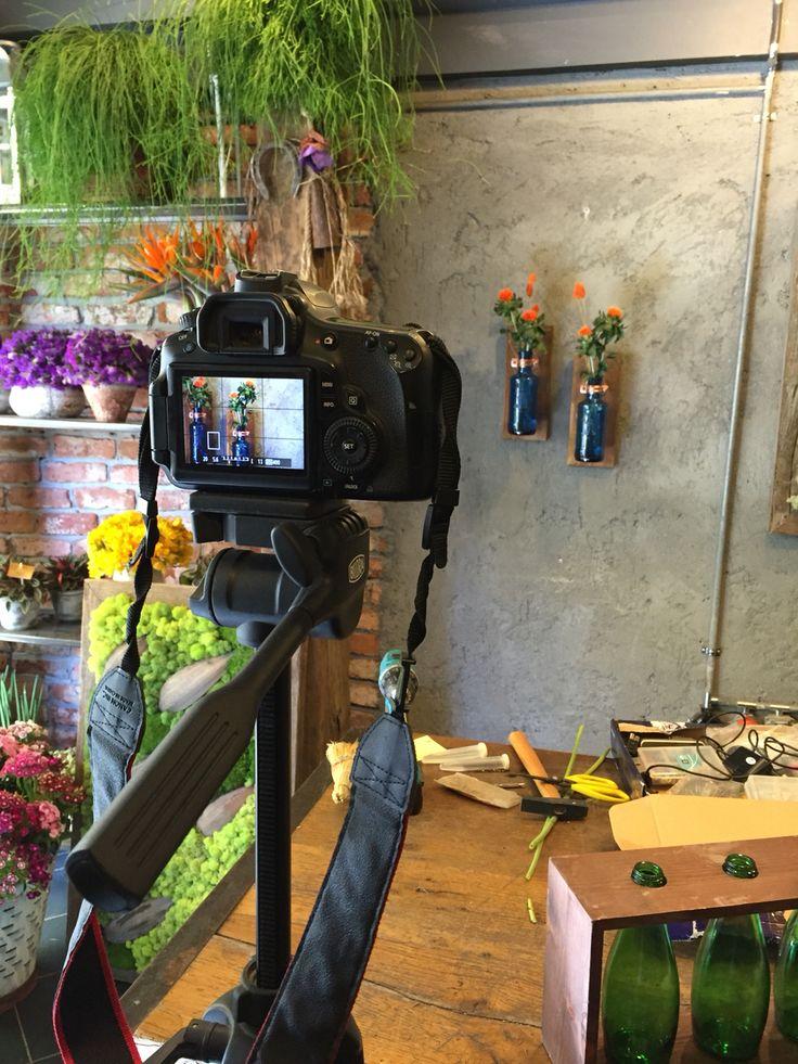 Shooting DIT  Glass Bottle & Wood Vase Recyhle