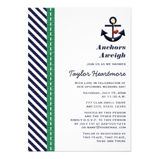 870 best beach theme bridal shower invitations images on pinterest custom yellow and navy nautical bridal shower invitations created by occasioninvitations this invitation design is available on many paper types and is filmwisefo Images