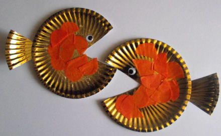 Goldfish craft: Crafts Ideas, Kids Stuff, Fish Art, Plates Goldfish, Plates Fish, Animal Crafts, New Years, Paper Plates, Goldfish Crafts