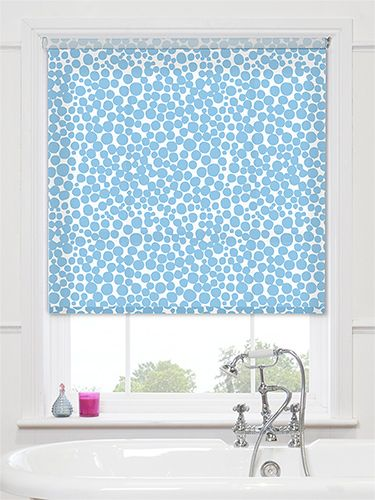rubble bubble aqua roller blind blue and bubbly this roller blind will be a