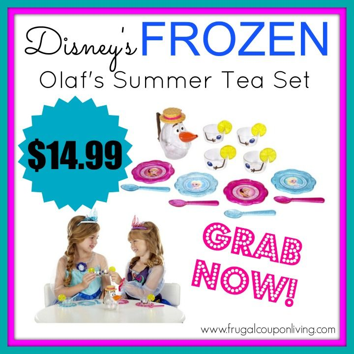 This sold out fast last time! Grab the Frozen Tea Set - Olaf's Summer for just $14.99! Get more details at Frugal Coupon Living!