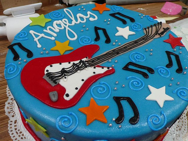 Teen Boy Cakes | Fender Stratocraster Guitar Cake 2 | Flickr - Photo Sharing!
