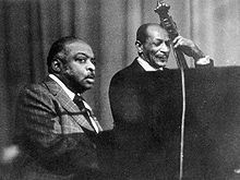 Count Basie (left) in concert (Cologne 1975)