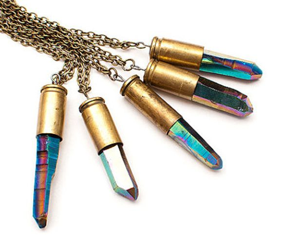 Bullet + Crystal. Want it.Crystals Bullets, Bullets Pendants, Bullets Meteor, Bullets Necklaces, Jewelry, Things, Accessories, Bullets Cases, Crystals Necklaces