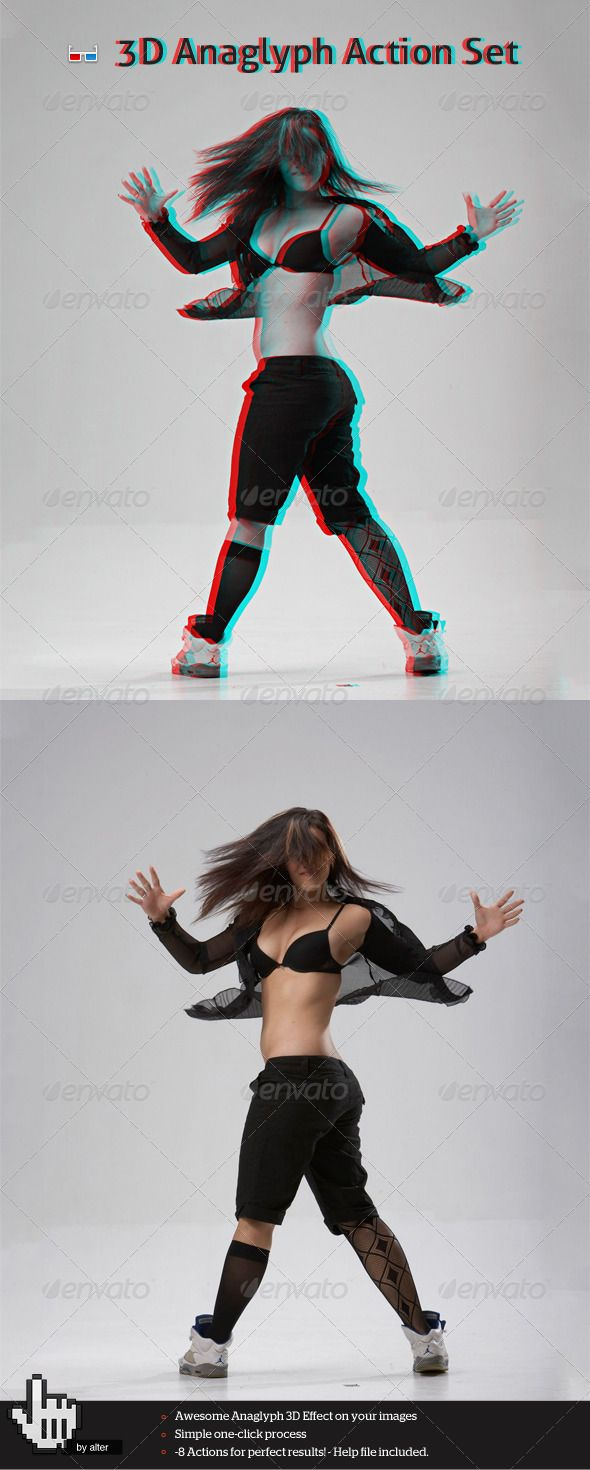 3D Anaglyph Action Set