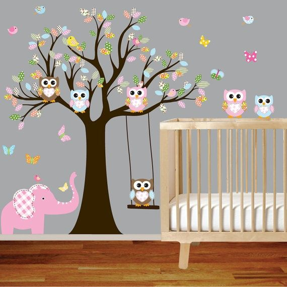 Decal Nursery Wall Stickers Colorful by wallartdesign