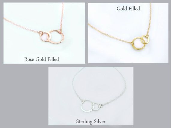 Rose Gold Infinity Necklace  Gold Infinity  von GlassPalaceArts