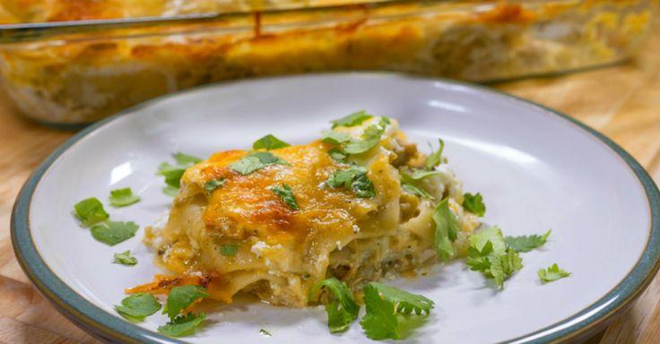 Spicy Green Chili Chicken Lasagna