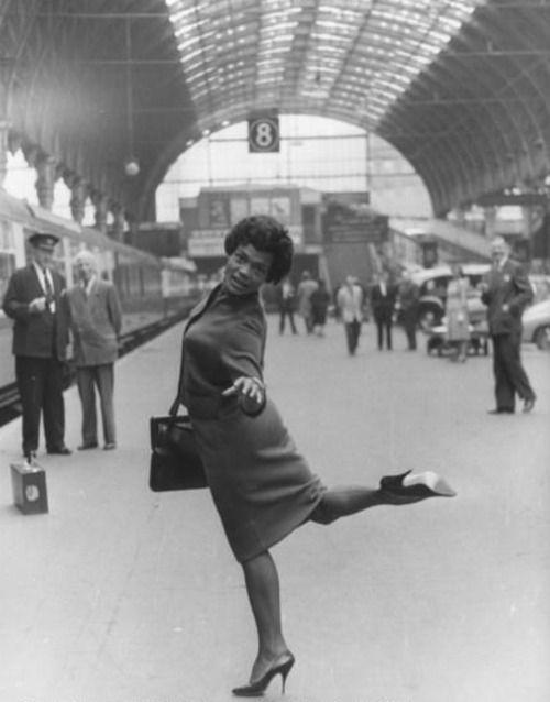 Eartha Kitt London Paddington Station 1960