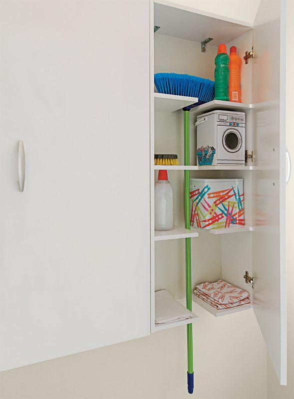 Solução para armário de lavanderia.