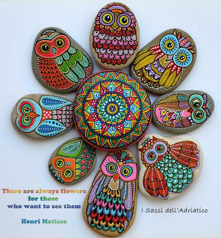 #Owl & #Mandala / There are always flowers for those who want to see them ..Henri Matisse https://www.facebook.com/ISassiDelladriatico