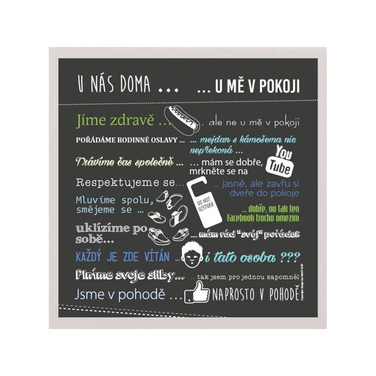 Plakát pro teenagery - pravidla mého pokoje - HEZKÝ SVĚT