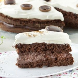 Sjokoladekake med deilig kremfyll