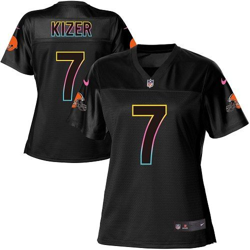 Women's Nike Cleveland Browns #7 DeShone Kizer Game Black Fashion NFL Jersey