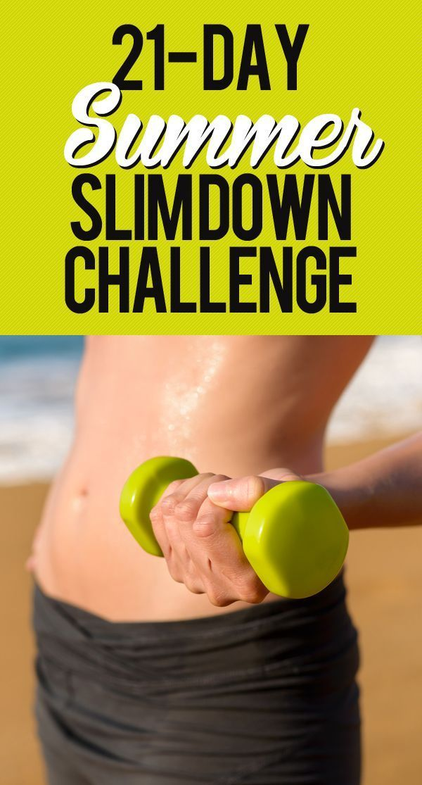 In three short weeks you can be on your way to an amazing summer body. This slim down challenge will add in new ways to lose weight, recipes, and workouts each week.