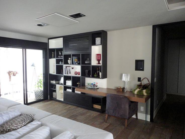 Estante sala de estar. Apartamento Morumbi