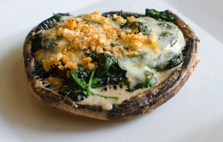Grilled Portobello Mushroom Stuffed with Creamed Spinach  Shared on https://www.facebook.com/LowCarbZen
