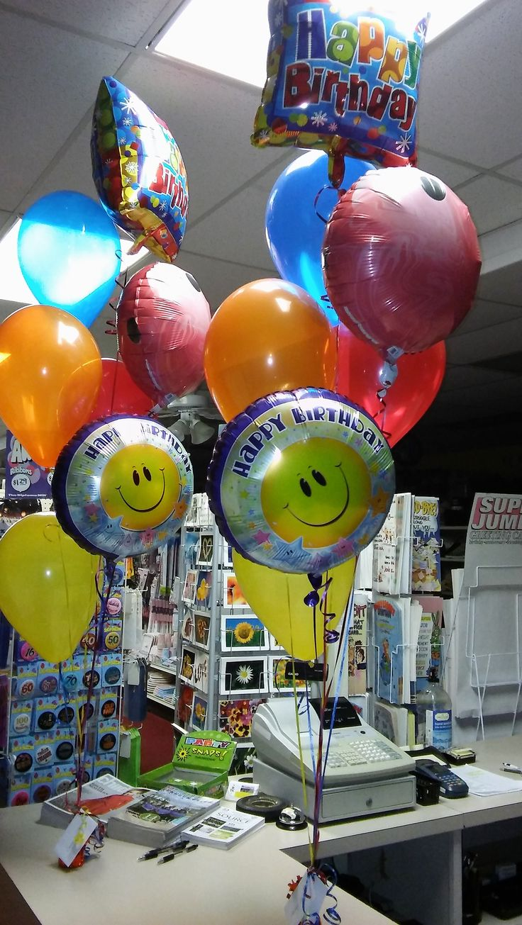 Birthday Balloon Bouquets for a set of Twin Boys! How fun