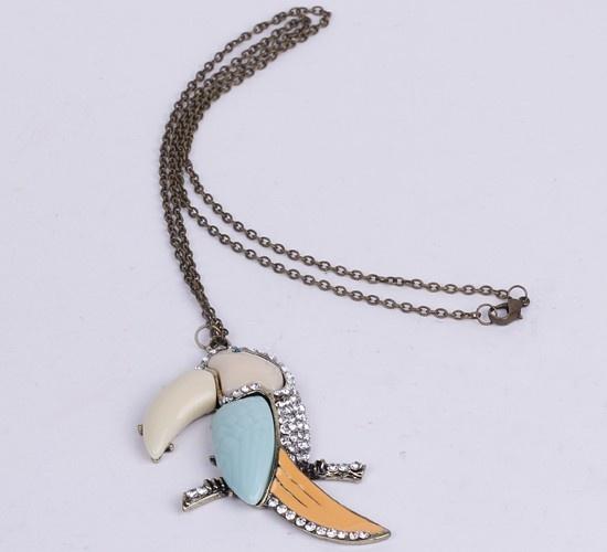 $1.55  38.9cm Sweater Chain Necklace Jewelry Parrot Shape Multi-Color #Eozy