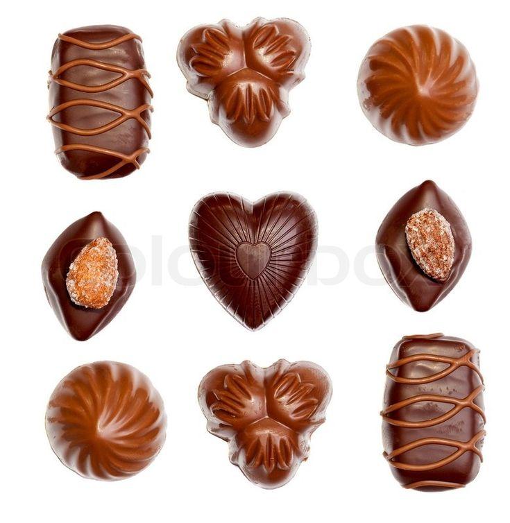 Chocolates isolated over white | Stock Photo | Colourbox on Colourbox