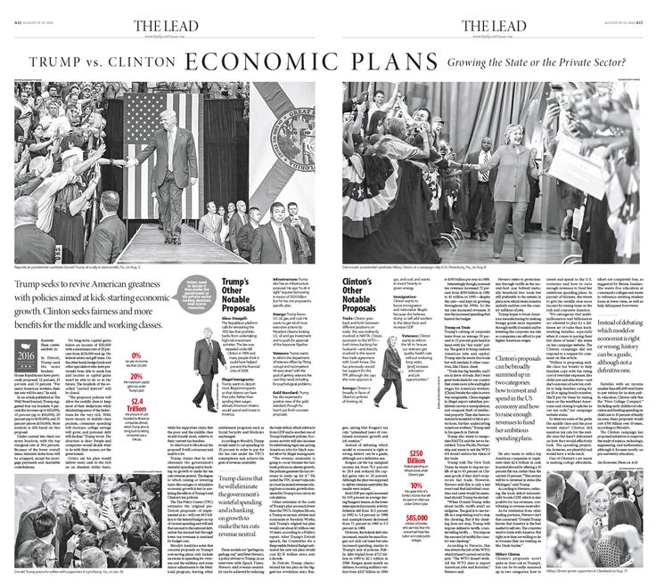 The Clinton and Trump Economic Plans: Growing the State or the Private Sector|Epoch Times #newspaper #editorialdesign