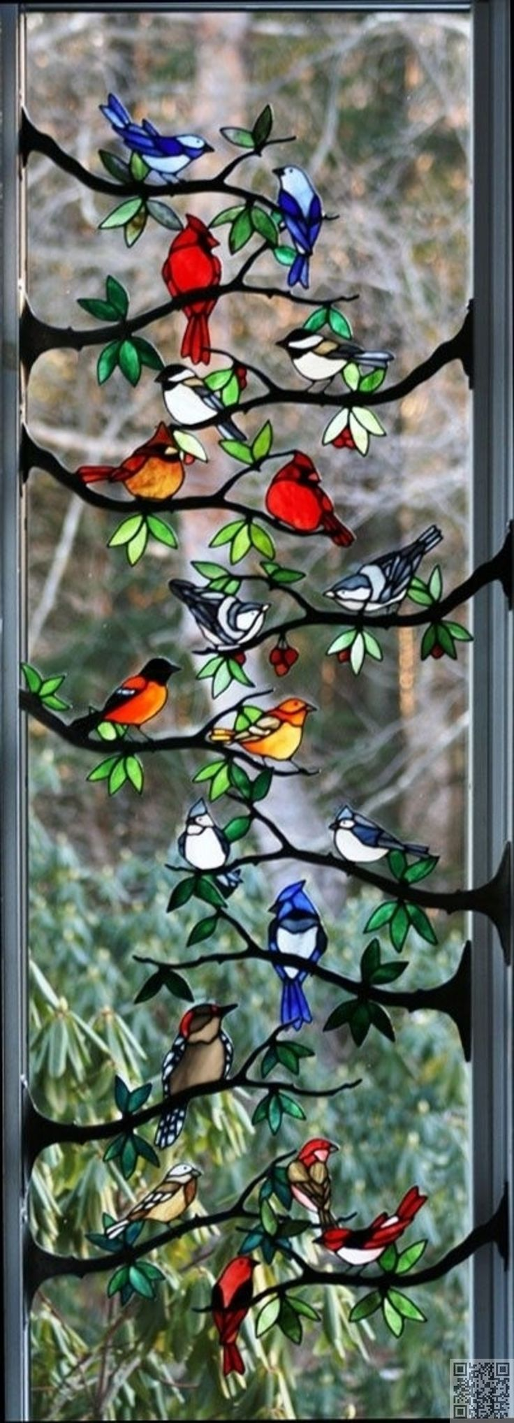 13. Stained #Glass Birds - 43 #Examples of Gorgeous Stained Glass ... #Stained