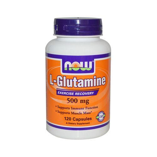 NOW L Glutamine 500mg 60caps (Αμινοξέα)   Familypharmacy.gr