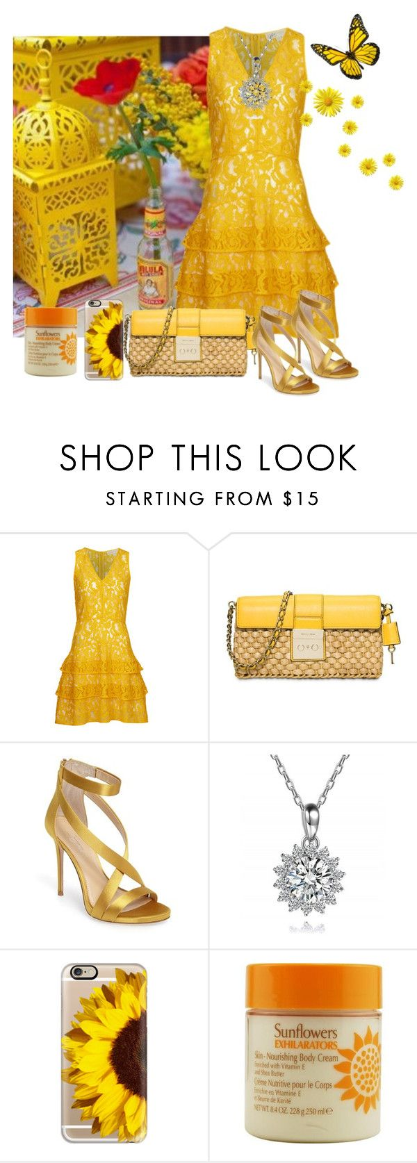 """""""lantern & sunflowers"""" by aries-indonesia ❤ liked on Polyvore featuring MICHAEL Michael Kors, Imagine by Vince Camuto, Casetify and Elizabeth Arden"""