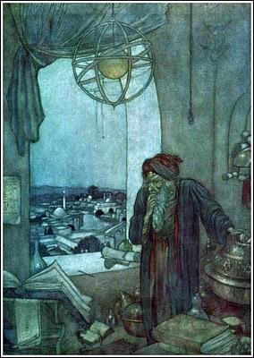 Edmund Dulac's illustration from Rubaiyat of Omar Khayyam - 1909 edition.