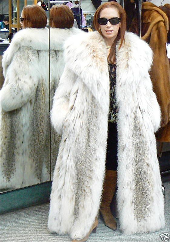 Huge Lynx Fur Coat | Lucious Lynx Furs | Pinterest | Lynx, Fur ...