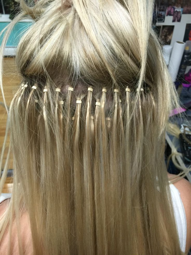 Microbead extensions | Microlink hair extensions, Beaded