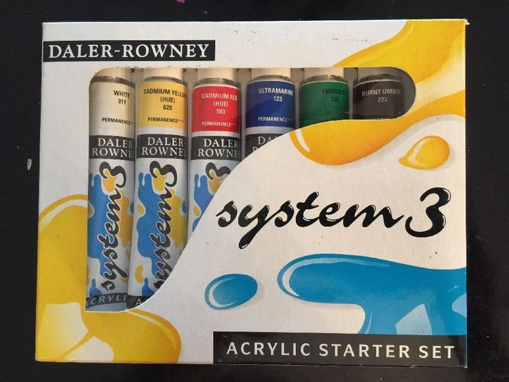 Daler-Rowney - System 3 Acrylic Starter Set 5011385920208 #Daler