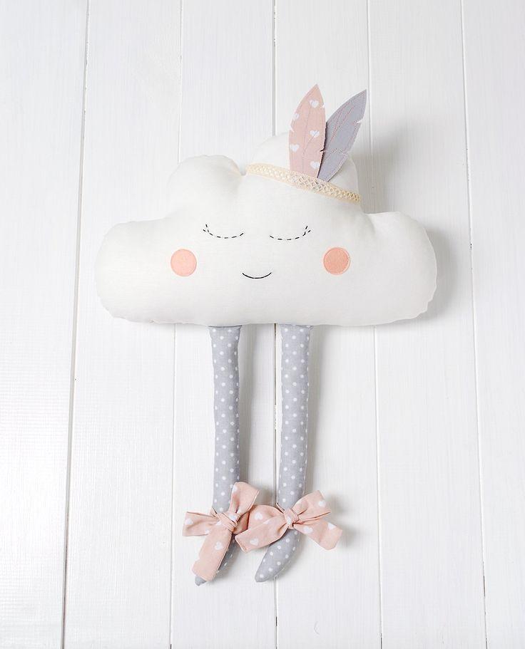Colchón de almohada nube nube chica de la decoración cuarto de
