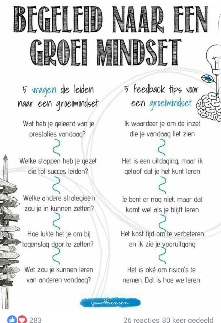 Begeleid naar een groei mindset