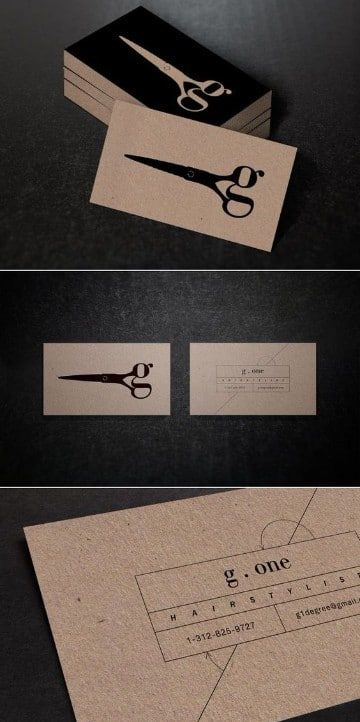 tarjetas de presentacion de peluqueria sobrias