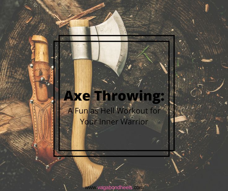 Find out about this fun new work out I did! #innerwarrior #axethrowing #montreal #workout #fun #vagabondheels