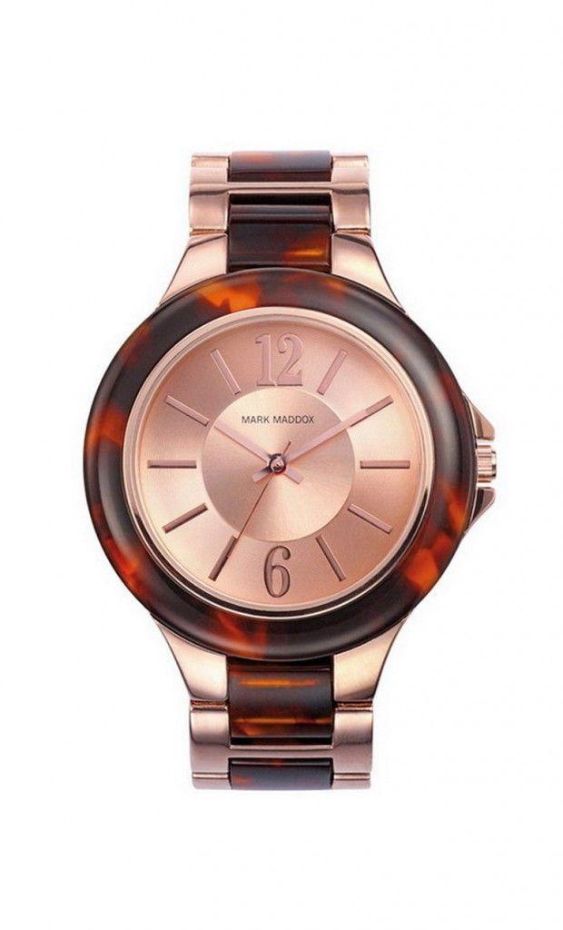 Pasa un tiempo espectacular con este grandioso modelo. Reloj tres agujas brazalete PC color marrón y esfera color rosa. Cierre desplegable. Cristal mineral. Impermeable 30m (3ATM).