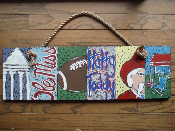 Ole Miss Six Pack Painting. $75.00, via Etsy.