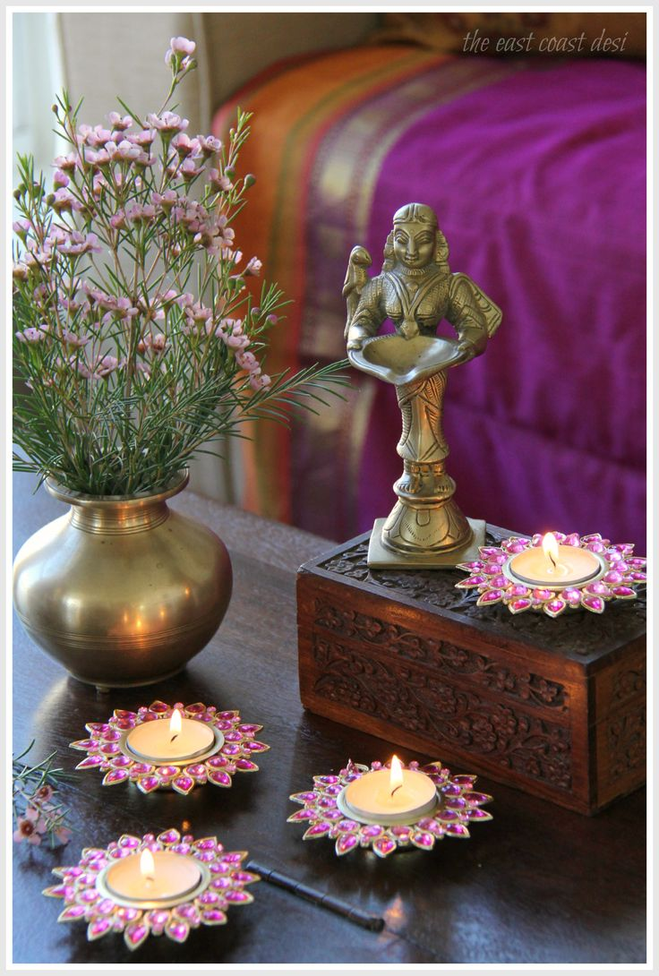 Homesake.in t-lights perfect for Diwali decor. (Image copyright - The East Coast Desi - Sruthi Singh)
