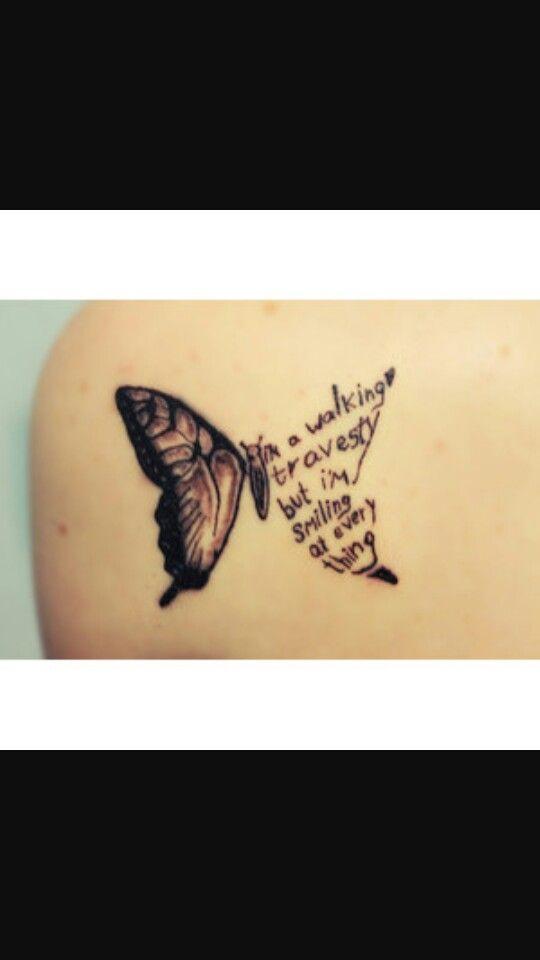 Have faith tattoo butterfly
