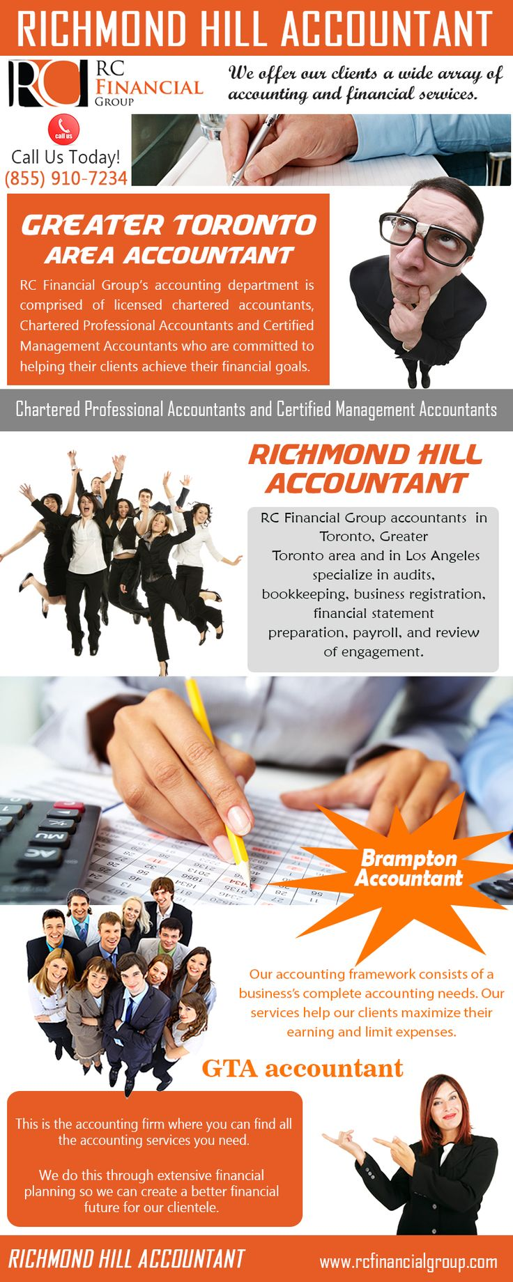 Sneak a peek at this web-site http://rcfinancialgroup.com/accounting/ for more information on Greater Toronto Area Accountant. Greater Toronto Area Accountants or GTA Accountants at GTA Accounting Company/Firm, RC Financial Group specializes in Accounting, Taxation; Business Consulting our firm also offers US Taxation and IRS Representation related services. We are here to assist you with your personal accounting, small business accounting and other finance needs.