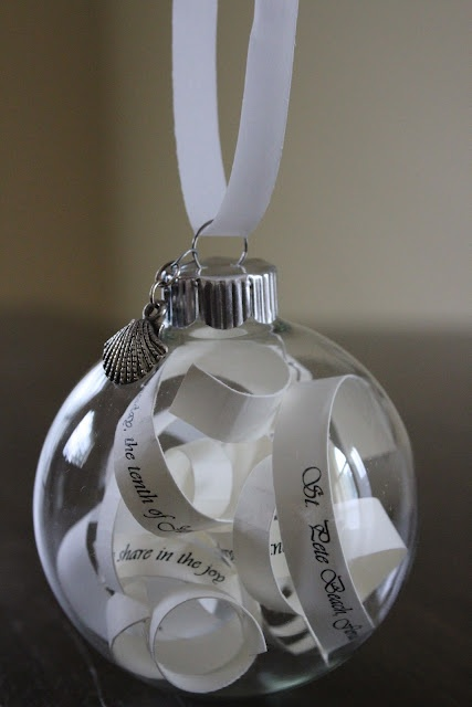 Wedding Gift Idea (made out of the wedding invitation). I could do this!!