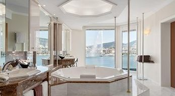 Bathroom Suite at the Grand Hotel Kempinski Geneva - Geneva - Switzerland