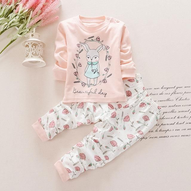 Toddler Infant Baby Girl Long Sleeve Party Floral Tops T-Shirt Dress Kid Clothes
